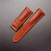 handmade. Livemaster - original item Calf leather watchband (23). Handmade.