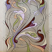 Для дома и интерьера ручной работы. Ярмарка Мастеров - ручная работа Витраж для двери роспись по стеклу. Handmade.