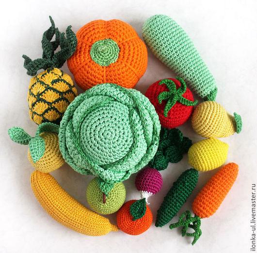 Еда ручной работы. Ярмарка Мастеров - ручная работа. Купить Фрукты и овощи - 2. Handmade. Фрукты, вязаные фрукты, желтый