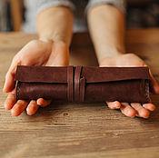 Канцелярские товары handmade. Livemaster - original item Leather pencil case for pens and pencils. Handmade.