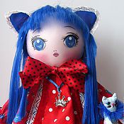 Куклы и игрушки ручной работы. Ярмарка Мастеров - ручная работа Кэт, волшебство синего. Handmade.