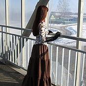 Одежда ручной работы. Ярмарка Мастеров - ручная работа Платье длинное Трикотаж стежка Капитоний. Handmade.