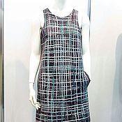Одежда handmade. Livemaster - original item Felted crochet dress Scotland. Handmade.
