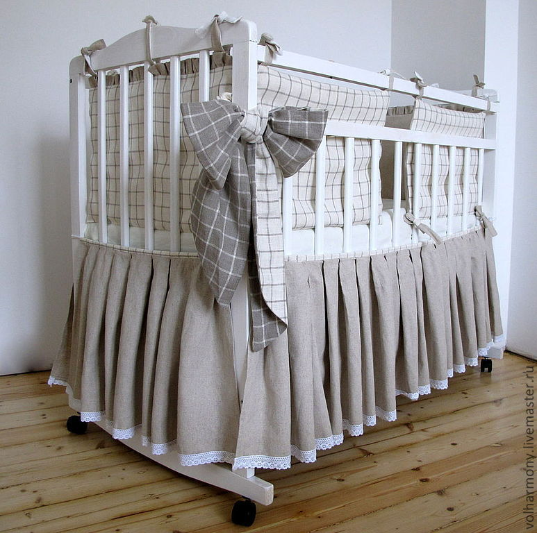 Сшить самим детское белье в кроватку