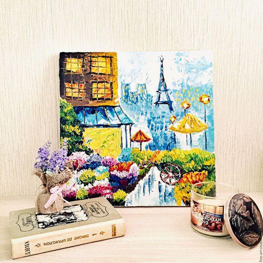 Город ручной работы. Ярмарка Мастеров - ручная работа. Купить Абстракция Париж, масло. Handmade. Комбинированный, городской пейзаж