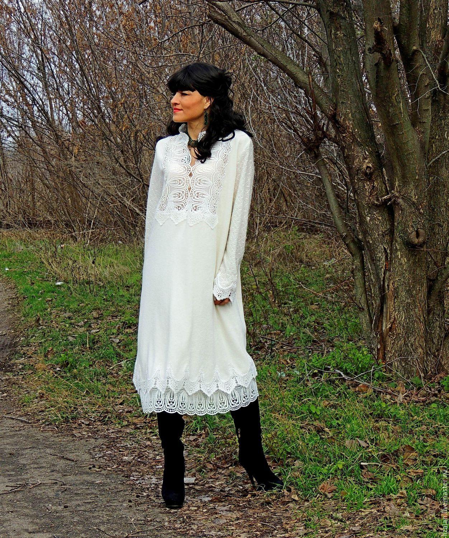 8c683e57bfff6 Платья ручной работы. Ярмарка Мастеров - ручная работа. Купить Зимнее БОХО  платье из ангоры ...