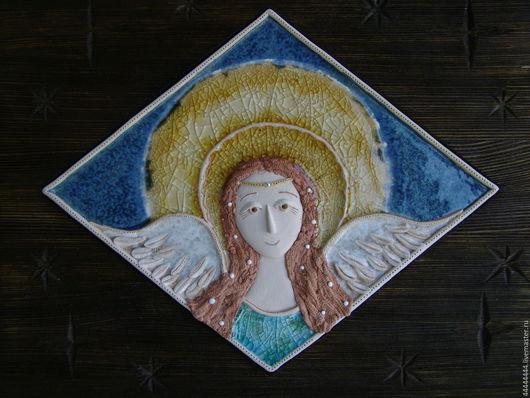 Персональные подарки ручной работы. Ярмарка Мастеров - ручная работа. Купить панно Ангел (со звёздами) Керамика. Handmade. Керамика