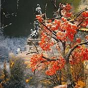Цветы и флористика ручной работы. Ярмарка Мастеров - ручная работа зимняя рябина. Handmade.