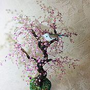 Деревья ручной работы. Ярмарка Мастеров - ручная работа Сакуры из бисера и ранетка. Handmade.