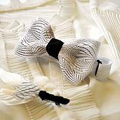 Аксессуары handmade. Livemaster - original item Set: bow tie and boutonniere with pheasant feathers. Handmade.