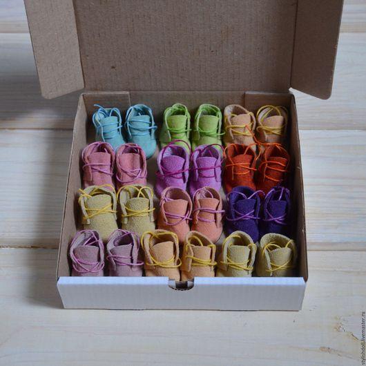Куклы и игрушки ручной работы. Ярмарка Мастеров - ручная работа. Купить Ботиночки для мишек 3 см. Handmade. Комбинированный
