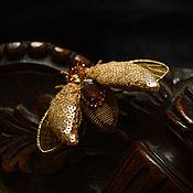 """Украшения ручной работы. Ярмарка Мастеров - ручная работа брошь """"золотой жук"""". Handmade."""