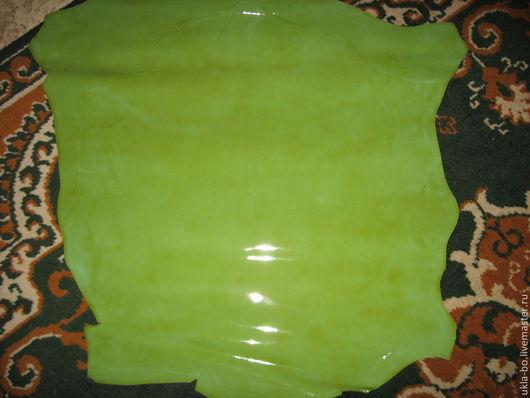 Шитье ручной работы. Ярмарка Мастеров - ручная работа. Купить Натуральная кожа. Италия. Цвет зеленой травы. Handmade. Зеленый