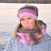 Аксессуары handmade. Livemaster - original item Set double hat beanie Snood