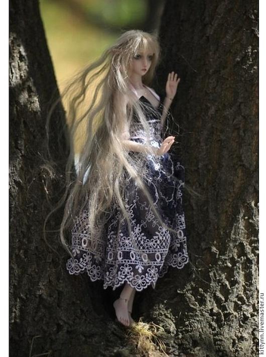 Коллекционные куклы ручной работы. Ярмарка Мастеров - ручная работа. Купить Шарнирная кукла.Светловолосая эльфийка. Handmade. Кремовый, кукла
