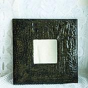 """Для дома и интерьера ручной работы. Ярмарка Мастеров - ручная работа Зеркало """"Кожа крокодила"""". Handmade."""