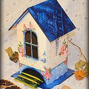 """Для дома и интерьера ручной работы. Ярмарка Мастеров - ручная работа Чайный домик """"Джинсовый"""". Handmade."""