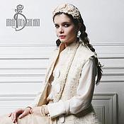 Одежда ручной работы. Ярмарка Мастеров - ручная работа Валяный жилет «Lacy white». Handmade.