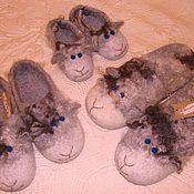 """Обувь ручной работы. Ярмарка Мастеров - ручная работа Тапки овечки """" Family look"""". Handmade."""