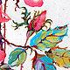 """Картины цветов ручной работы. Картина """"Дикая Роза"""" (холст, масло). ЯРКИЕ КАРТИНЫ Наталии Ширяевой. Ярмарка Мастеров. Розы"""