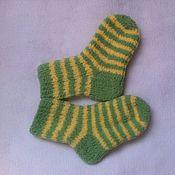Работы для детей, ручной работы. Ярмарка Мастеров - ручная работа Полосатые носочки. Handmade.
