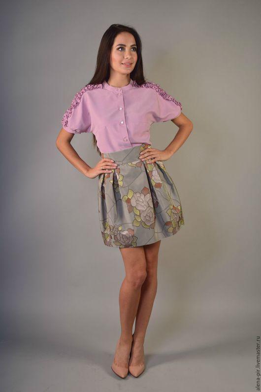 Юбки ручной работы. Ярмарка Мастеров - ручная работа. Купить Мини юбка. Handmade. Серый, нарядная юбка