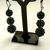 Украшения handmade. Livemaster - original item Earrings black MARS. Handmade.
