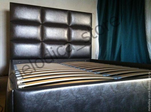 Мебель ручной работы. Ярмарка Мастеров - ручная работа. Купить Кровать Domino-9. Handmade. Темно-серый, двуспальная кровать