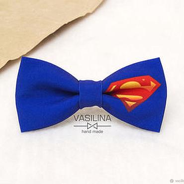Accessories handmade. Livemaster - original item Superman bow Tie, Superheroes. Handmade.