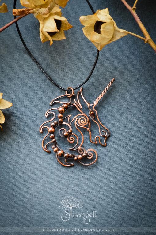 Colgante de cobre unicornio Colgante de cobre colgante Mágico, Pendant, Ulan-Ude,  Фото №1
