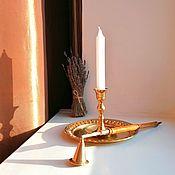 Винтаж handmade. Livemaster - original item Candle holder, brass, Germany.. Handmade.