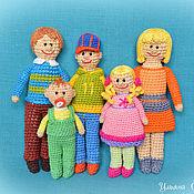"""Куклы и игрушки ручной работы. Ярмарка Мастеров - ручная работа Куколки вязаные """"Семья"""". Handmade."""
