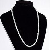 Работы для детей, handmade. Livemaster - original item Beads from 100% natural moonstone ring with diamond cut. Handmade.