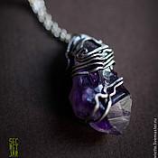 Украшения handmade. Livemaster - original item Pendant with amethyst. Handmade.