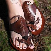 """Обувь ручной работы. Ярмарка Мастеров - ручная работа Кожаные сандалии """"HOLY COW"""". Handmade."""