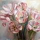 Картины цветов ручной работы. Ярмарка Мастеров - ручная работа. Купить Тюльпаны. Handmade. Тюльпаны, нежный, белый, для интерьера