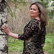 """Одежда ручной работы. Ярмарка Мастеров - ручная работа Платье """"Черная хризантема"""". Handmade."""