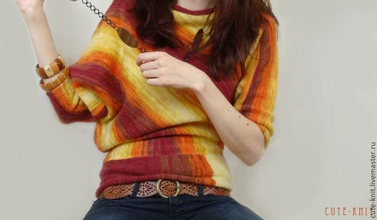 Чтобы лучше рассмотреть модель, нажмите на фото CUTE-KNIT Ната Онипченко Ярмарка мастеров Купить асимметричную кофту вязаную