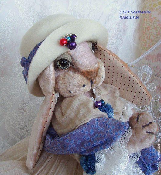 """Мишки Тедди ручной работы. Ярмарка Мастеров - ручная работа. Купить плюшевая зайка  """"Мисс Лили"""". Handmade. Комбинированный"""