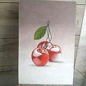 Картины ручной работы. Ярмарка Мастеров - ручная работа Интерьерная вишня. Handmade.