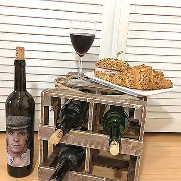 Для дома и интерьера ручной работы. Ярмарка Мастеров - ручная работа «ВИННЫЙ КУБ» - винная стойка. Handmade.