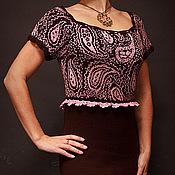"""Одежда ручной работы. Ярмарка Мастеров - ручная работа зимнее платье """"Шоколадка"""". Handmade."""