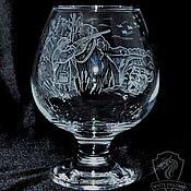 Посуда handmade. Livemaster - original item Hunting. brandy glass. Handmade.