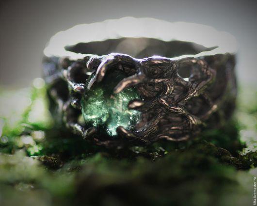 """Кольца ручной работы. Ярмарка Мастеров - ручная работа. Купить Кольцо """"Лесник"""".. Handmade. Зеленый, волшебное, турмалин"""