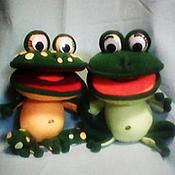 Куклы и игрушки handmade. Livemaster - original item Frogs wah.Puppets on hand.Glove tablet.. Handmade.