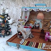 Куклы и игрушки handmade. Livemaster - original item Dollhouse in a suitcase. Based on the cartoon about Prostokvashino. Handmade.