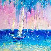 Картины и панно handmade. Livemaster - original item Picture of the sailboat