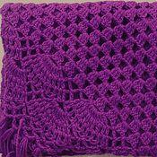 Аксессуары handmade. Livemaster - original item Shawl Diana 200x150x150 knit (R-R sides, excluding brushes). Handmade.