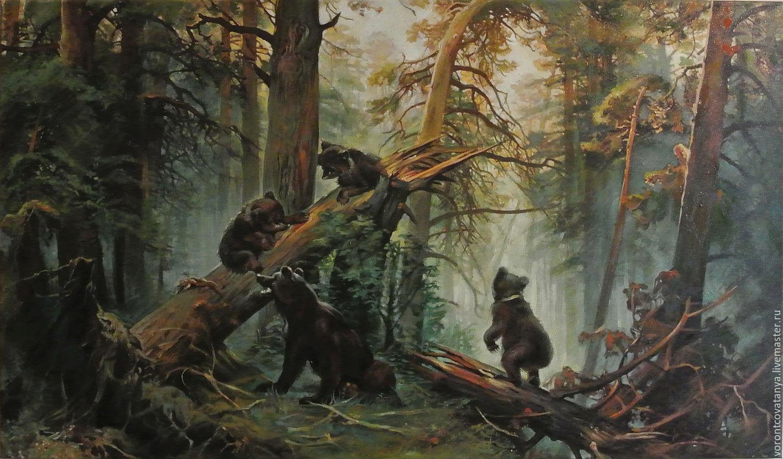обои на рабочий стол три медведя шишкин него, карины семей