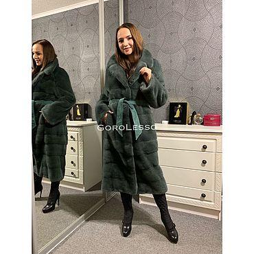 Одежда ручной работы. Ярмарка Мастеров - ручная работа Шуба норковая Nafa цвет Зелёный. Handmade.
